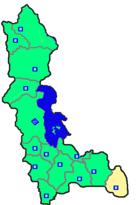 Location of Takab County in West Azerbaijan Province.
