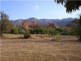 View of the kasbah of Taliouine