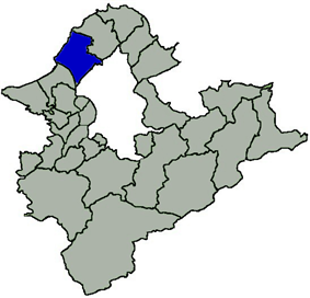 Location of Tamsui in New Taipei