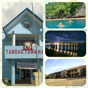Tandag City Hall, Linungao Island, Tandag Boulevard at night, Capitol Bldg.