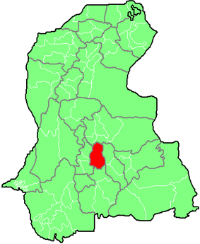 Map of Sindh with Tando Allahyar District highlighted
