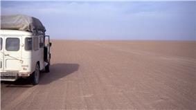 Car in the Tanezrouft in Mali