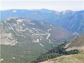 Taos Ski Valley from Wheeler Peak
