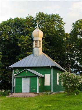 Tatar mosque in the Tatar cemetery of Nemėžis