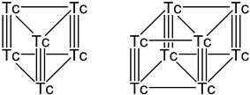 Skeletal formula of technetium hydride described in the text.