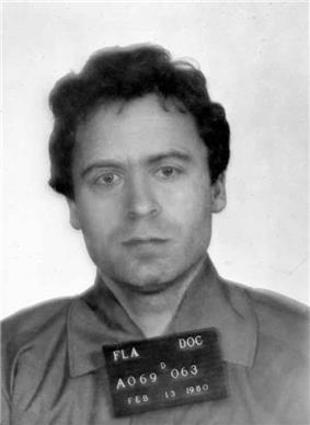 An unsmiling Bundy faces the camera.