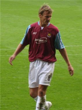 West Ham player Teddy Sheringham