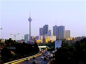 Milad Tower seen from Parkway