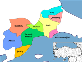 Districts of Tekirdağ