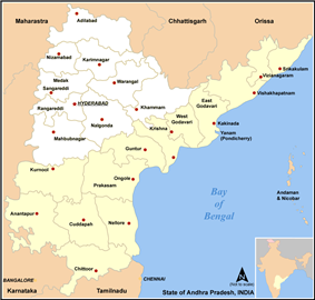 Location of Andhra