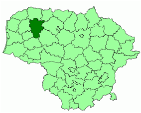 Location of Telšiai district municipality within Lithuania
