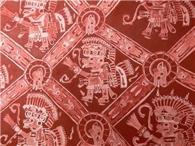 Teotihuacán - Palacio de Atetelco Wandmalerei 3.jpg