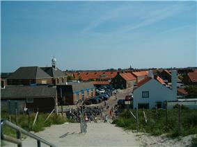 View of Ter Heijde from the coastal dunes