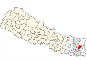 Location of Terhathum