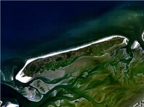 Satellite photo of Terschelling