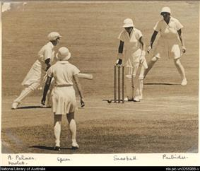 Australia vs England in the second women's Test match in Sydney, 1935.