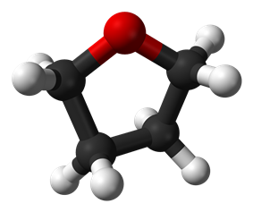 Space-filling model of the THF molecule