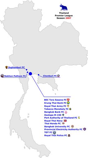 Thai Premier League locations