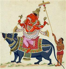 Ganesha riding his mouse