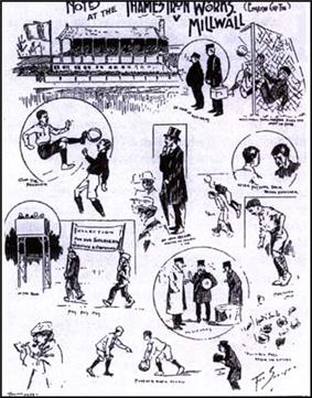 A programme cover from the first game between Thames Ironworks and Millwall Athletic