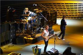The Police in 2007, left to right: Stewart Copeland, Sting, Andy Summers