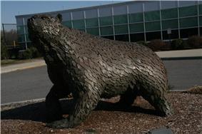 Statue of the BSU Bear mascot