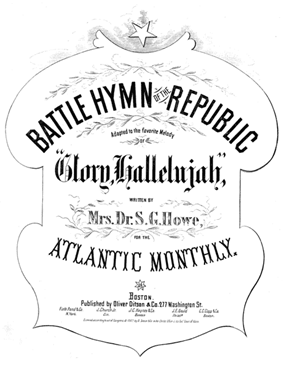 Cover of the 1862 sheet music for