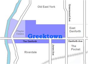 Location of Greektown