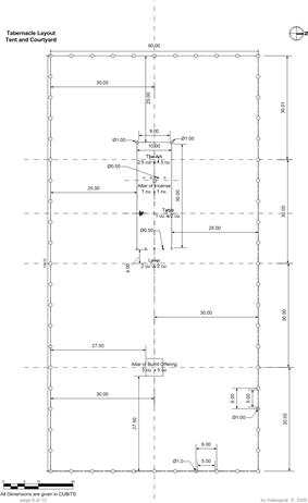 The Desert Tabernacle (Mishkan) - Layout and Dimensions - Full.jpg
