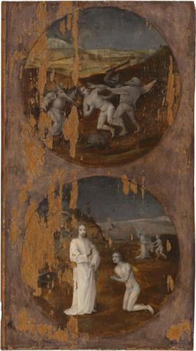 Noah's Ark on Mount Ararat (back: Mankind Beset by Devils)