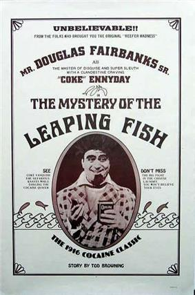 Movie poster, emphasising Holmes's cocaine habit