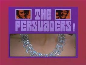 Alt=Series title with images of title characters and girl's neck with a diamond necklace