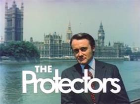 Alt=Series title over an image of Robert Vaughn and the Houses of Parliament