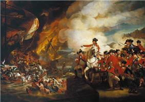 Oil-on-canvas painting depicting a scene from the Great Siege