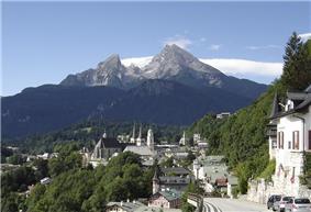Berchtesgaden with view of the Watzmann