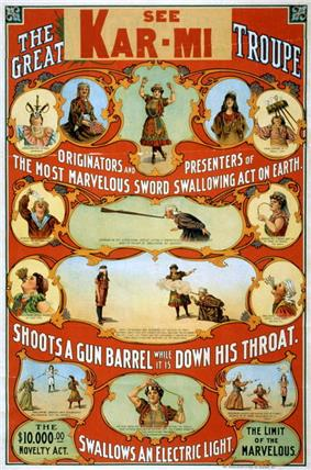 circus poster: The great Victorina Troupe