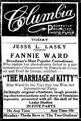 September 1915 advertisment