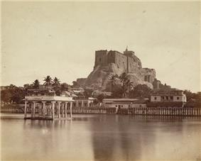 The Teppakulam and Rockfort photographed in 1860