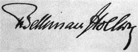 Signature of Theobald von Bethmann-Hollweg