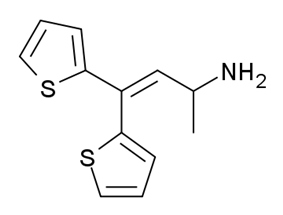 Chemical structure of Thiambutene.