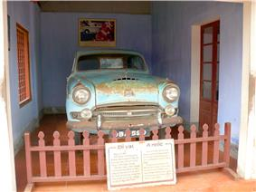 A higher resolution image of the car, on display at the temple, 15 December 2011