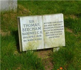 Beecham's gravestone