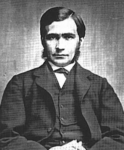 Black and white photograph of British philosopher Thomas Hill Green
