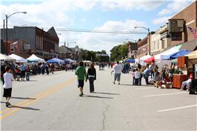 Main Street during the Turning of the Leaves Festival