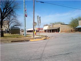 Downtown Throckmorton.
