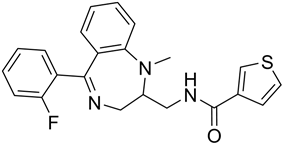 Chemical structure of Tifluadom.