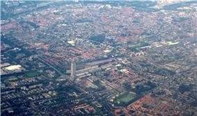 Aerial view of Tilburg