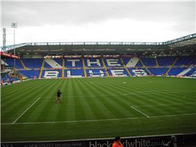 The Tilton Road End of Birmingham City's St Andrew's stadium