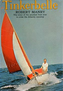 Robert Manry on his small sailboat named Tinkerbelle