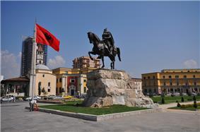 Tirana Symbols on Skanderbeg Square